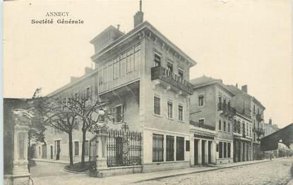 """/ CPA FRANCE 74 """"Annecy, Société Générale"""" / SG / BANQUE"""