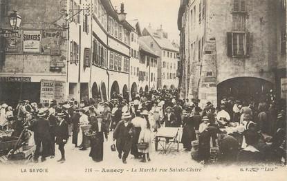 """/ CPA FRANCE 74 """"Annecy, le marché rue Sainte Claire"""""""