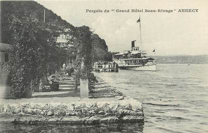 """/ CPA FRANCE 74 """"Annecy, Grand hôtel Beau Rivage"""""""