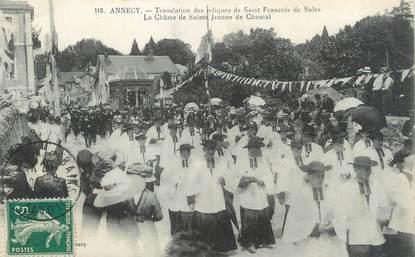 """/ CPA FRANCE 74 """"Annecy, translation des reliques de Saint François de Sales"""""""