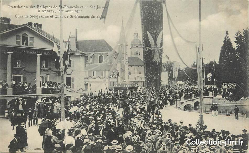 Cpa france 74 annecy translation des reliques de saint for Haute translation