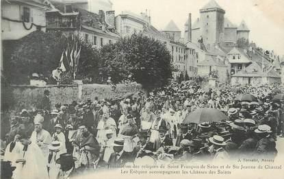 """/ CPA FRANCE 74 """"Annecy, translation des reliques de Saint François et Sainte Jeanne """""""
