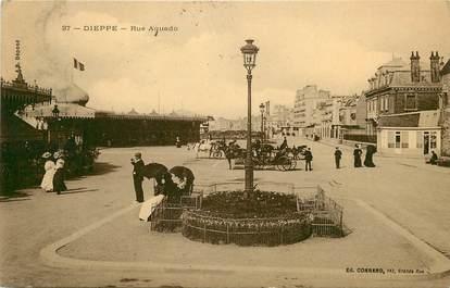 """CPA FRANCE 76 """"Dieppe, rue Aquado"""""""