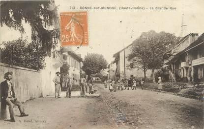 "/ CPA FRANCE 74 ""Bonne sur Menoge, la grande rue"""