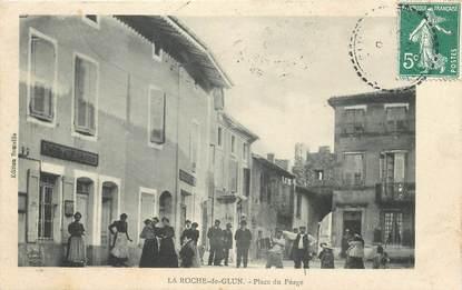 """CPA FRANCE 26 """"La Roche de Glun, place du Péage"""""""