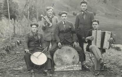 """CARTE PHOTO FRANCE 26 """"Choranches, 1930"""" / ACCORDÉON"""
