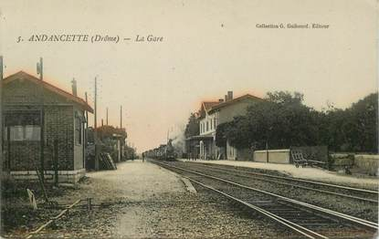 """CPA FRANCE 26 """"Andancette, la gare""""  / TRAIN"""