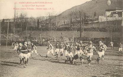 "CPA FRANCE 26 ""Saint Jean en Royans, 1922, Rugby"""