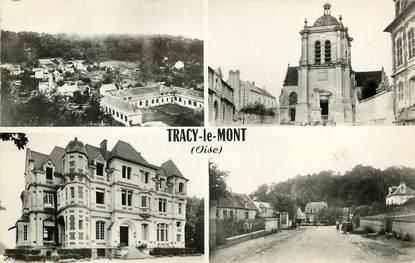 """CPSM FRANCE 60 """"Tracy le Mont"""" / Vues de la ville"""