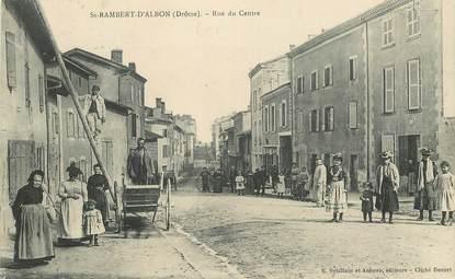 "CPA FRANCE 26 ""Saint Rambert d'Albon, la rue du Centre"""