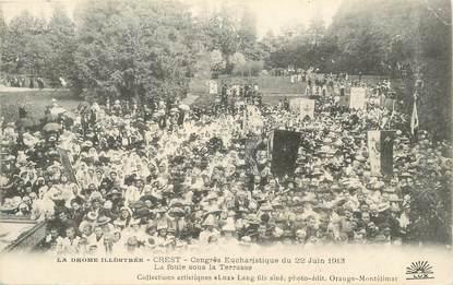 """CPA FRANCE 26 """"Crest, congrès eucharistique du 22 juin 1913"""""""