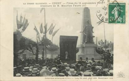 """CPA FRANCE 26 """"Crest, Fêtes du 11 septembre 1910"""""""