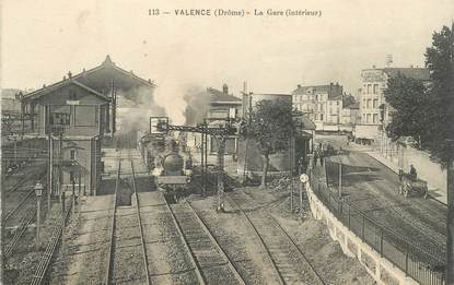 "CPA FRANCE 26 ""Valence, la gare"" / TRAIN"