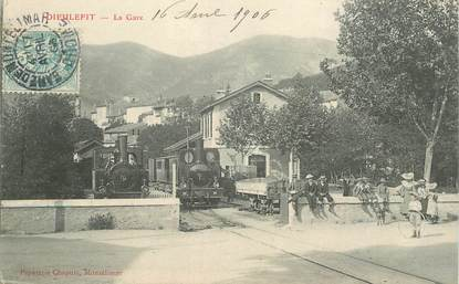 "CPA  FRANCE 26  ""Dieulefit, la gare"" / TRAIN"
