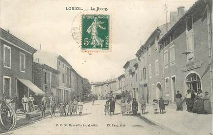 "CPA  FRANCE 26  ""Loriol, le Bourg"""