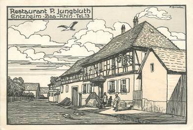 "/ CPSM FRANCE 67 ""Entzheim, restaurant P. Jungbluth """