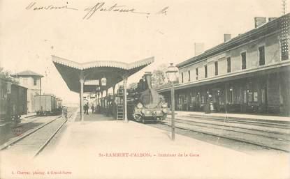 """CPA  FRANCE 26 """"Saint Rambert d'Albon, intérieur de la gare"""" / TRAIN"""
