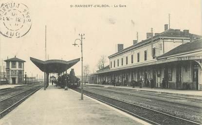 "CPA  FRANCE 26 ""Saint Rambert d'Albon,  la gare"" / TRAIN"