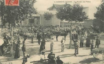"CPA  FRANCE 26 ""Saint Rambert d'Albon, le marché aux Pêches"""