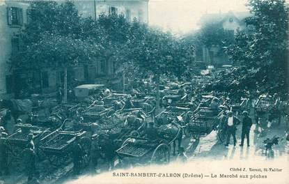 "CPA  FRANCE 26 ""Saint Rambert d'Albon, le marché aux Pêches """