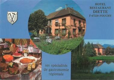 """/ CPSM FRANCE 67 """"Fouchy, hôtel restaurant Diette"""""""