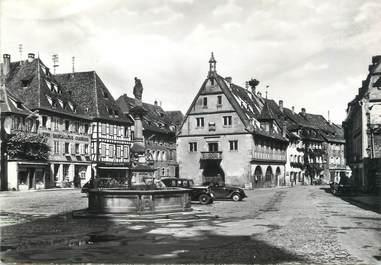 """/ CPSM FRANCE 67 """"Obernai, le puit Sainte Odile et la place du marché"""""""