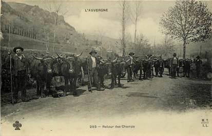 """CPA FRANCE 63 """"Auvergne, Retour des Champs"""""""