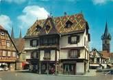 """67 Ba Rhin / CPSM FRANCE 67 """"Obernai, place de l'étoile, une maison pittoresque"""""""