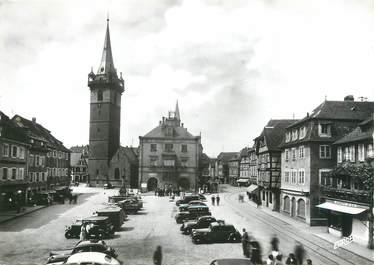 """/ CPSM FRANCE 67 """"Obernai, place du marché"""""""