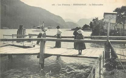 """/ CPA FRANCE 74 """"Brédannaz, lac d'Annecy"""""""
