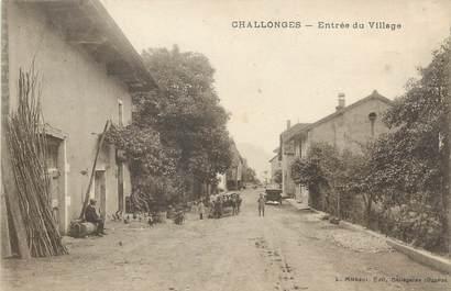 """/ CPA FRANCE 74 """"Challonges, entrée du village"""""""