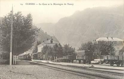 """/ CPA FRANCE 74 """"Cluses, la gare et la montagne de Nancy"""""""