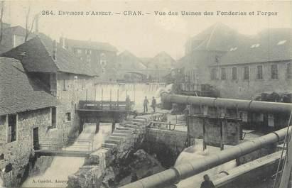 """/ CPA FRANCE 74 """"Cran, vue des usines des fonderies et forges"""""""