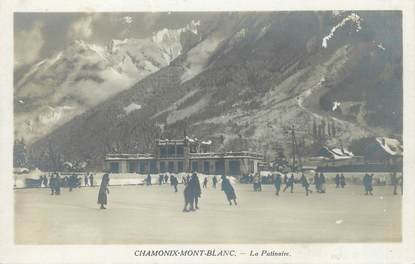 "/ CARTE PHOTO FRANCE 74 ""Chamonix Mont Blanc, la patinoire"""