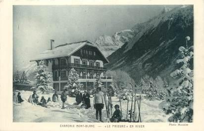 """/ CPA FRANCE 74 """"Chamonix mont Blanc, le prieuré en hiver"""""""