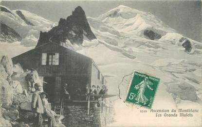 """/ CPA FRANCE 74 """"Chamonix, ascension d'une Aiguille, les grands mulets"""""""