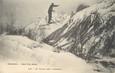 """/ CPA FRANCE 74 """"Chamonix, saut d'un skieur"""""""