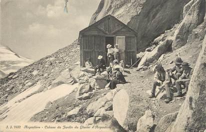"""/ CPA FRANCE 74 """"Chamonix, cabane du jardin du rocher d'Argentière"""""""