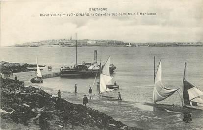 """CPA FRANCE 35 """"Dinard, la Cale et le Bac de Saint Malo à mer basse"""""""