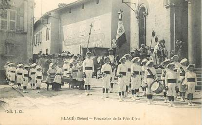 """CPA FRANCE 69 """"Blacé, Procession de la Fête Dieu"""""""