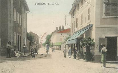 "CPA FRANCE 69 ""Chasselay, la rue de Paris"""