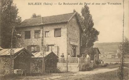 """CPA FRANCE 69 """"Solaize, le restaurant du Pont et vue sur Vernaise"""