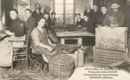 """CPA FRANCE 69 """"Régnié, atelier de greffage"""""""