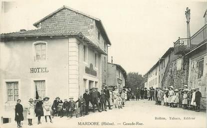 "CPA FRANCE 69 ""Mardore, la grande rue"""