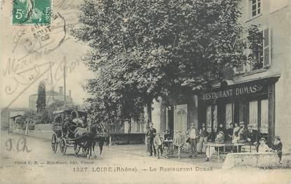 "CPA FRANCE 69 ""Loire, le Restaurant Dumas"""