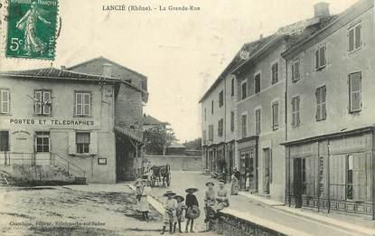 """CPA FRANCE 69 """"Lancié, la grande rue"""""""