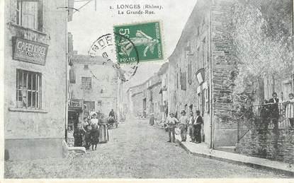 "CPA FRANCE 69 ""Longes, la Grande rue"""