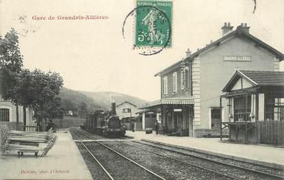 "CPA FRANCE 69 ""La gare de Grandris Allières"" / TRAIN"