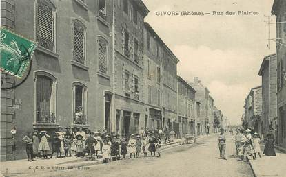 "CPA FRANCE 69 ""Givors, rue des Plaines"""