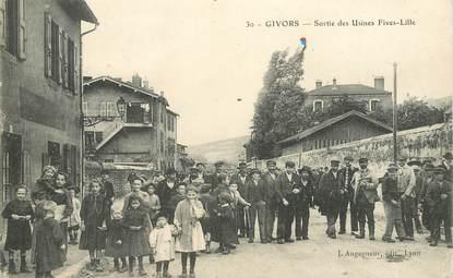 "CPA FRANCE 69 ""Givors, sortie des Usines Fives Lille"""